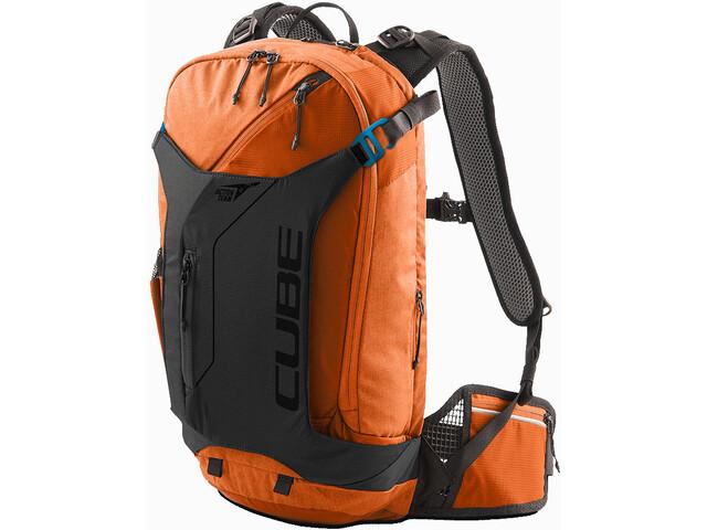 Cube Edge Trail X Action Team Mochila, naranja/negro